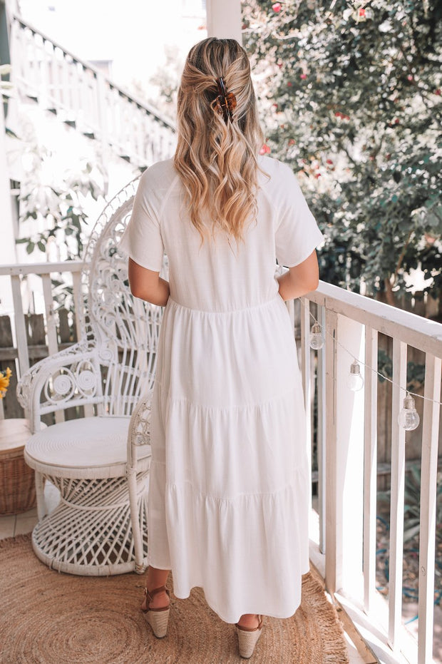 Emily Dress - White-Dresses-Womens Clothing-ESTHER & CO.
