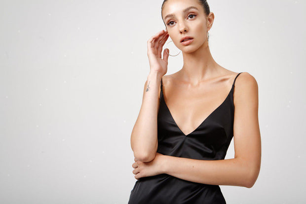 Esmae Dress - Black-Dresses-Womens Clothing-ESTHER & CO.