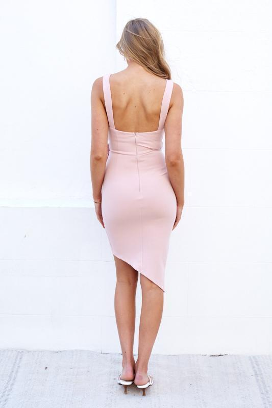 Estelles Dress - Blush-Dresses-Womens Clothing-ESTHER & CO.