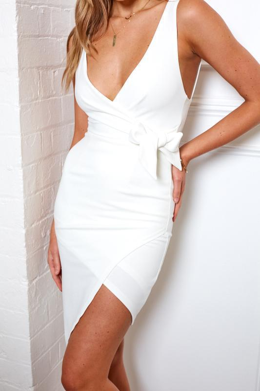 Estelles Dress - White-Dresses-Womens Clothing-ESTHER & CO.