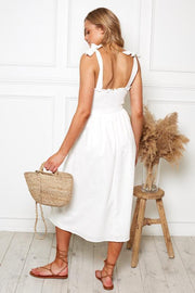 Evelyn Dress - White-Dresses-Womens Clothing-ESTHER & CO.