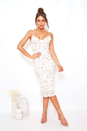 Evian Dress - White Print
