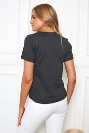 Faintly Top - Black-Tops-Womens Clothing-ESTHER & CO.