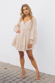 Fairies Dress - Beige-Dresses-Willo Fashion-ESTHER & CO.