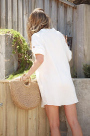 Fazed Dress - White-Playsuits-Womens Clothing-ESTHER & CO.
