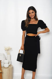 Femme Skirt - Black-Skirts-Womens Clothing-ESTHER & CO.