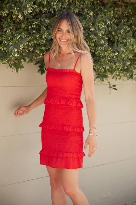 Flair Dress - Red