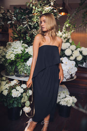 Fleur Strapless Dress | Black-Dresses-Esther Luxe-ESTHER & CO.