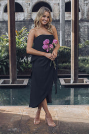 Fleur Strapless Dress | Black