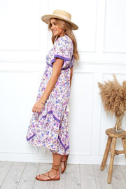 Flora Dress - Purple Print