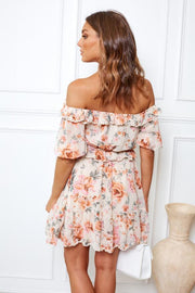 Preorder Floraison Dress - Cream Print-Dresses-Womens Clothing-ESTHER & CO.