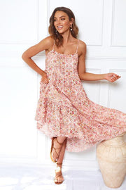Floret Dress - Pink Print-Dresses-Womens Clothing-ESTHER & CO.