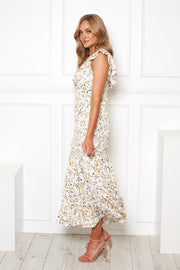 Florine Dress - White Print-Dresses-Womens Clothing-ESTHER & CO.
