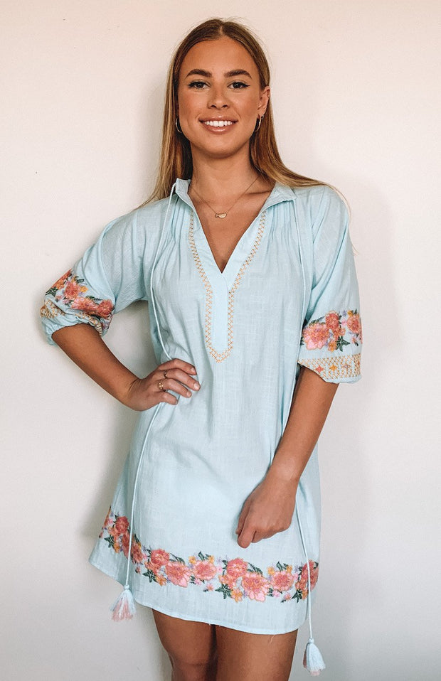 Folks Dress - Blue-Dresses-Womens Clothing-ESTHER & CO.