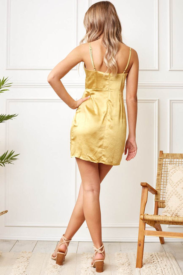 Fraya Dress - Mustard-Dresses-Womens Clothing-ESTHER & CO.