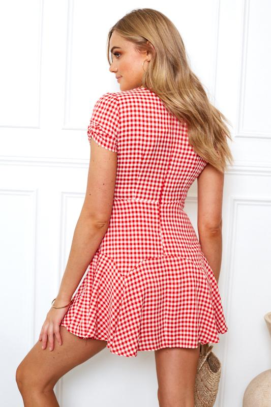 Frenchie Dress - Red Print