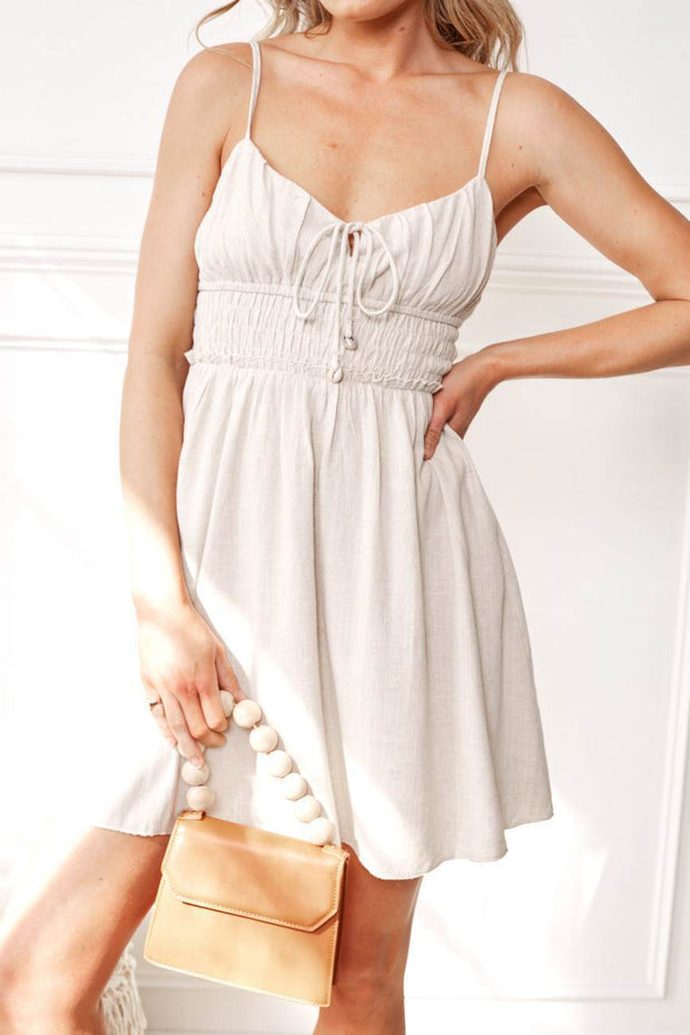 Fresh Dress - Beige-Dresses-Womens Clothing-ESTHER & CO.
