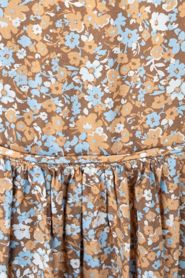 Frida Top - Tan Print-Tops-Womens Clothing-ESTHER & CO.
