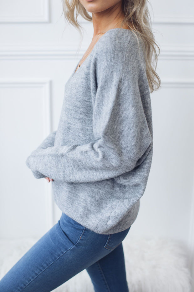 Frosty Knit - Grey-Jumpers-HQ Fashion-ESTHER & CO.