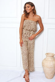 Furla Jumpsuit - Beige Print-Jumpsuits-Womens Clothing-ESTHER & CO.
