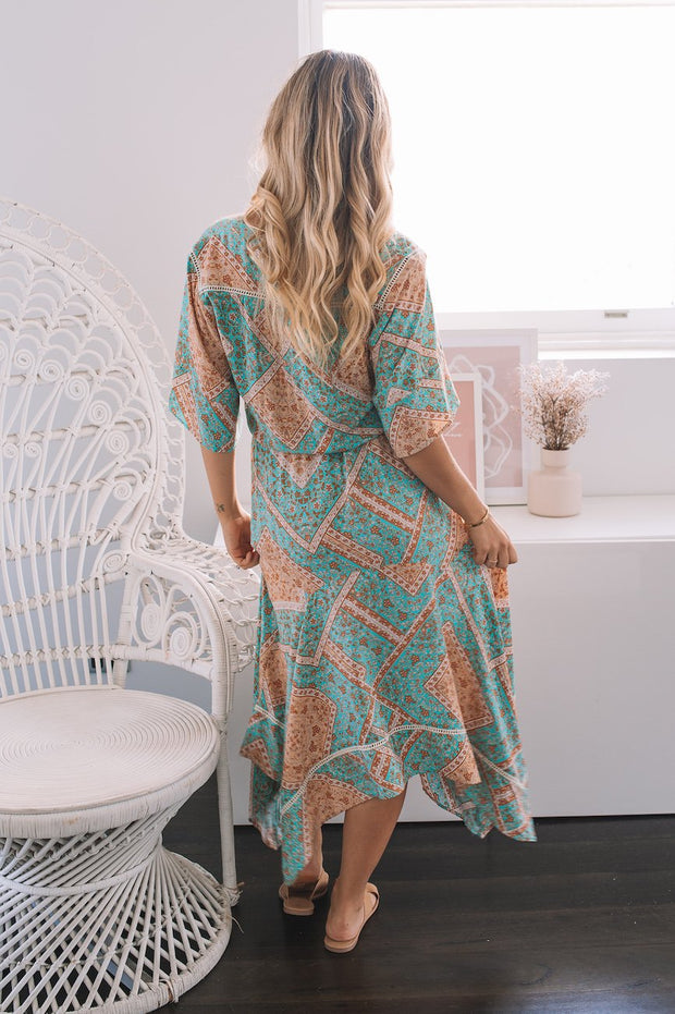 Galiela Dress - Patch Print-Dresses-Womens Clothing-ESTHER & CO.