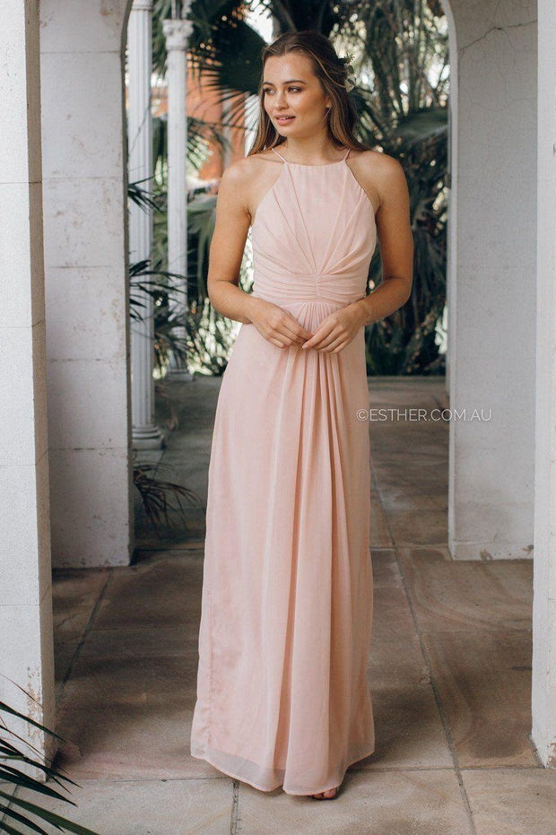 Gardenia Dress - Blush-Dresses-Esther Luxe-ESTHER & CO.