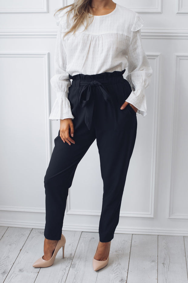 Garnett Pants - Black-Pants-Miracle Fashions-ESTHER & CO.