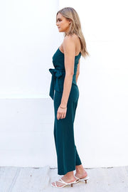 Gem Jumpsuit - Emerald-Jumpsuits-Womens Clothing-ESTHER & CO.