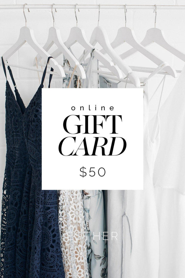 Gift Cards - $50-Gift Card-Shopify-$50-ESTHER & CO.