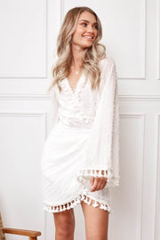 Hailed Dress - White