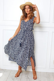 Harp Dress - Navy Print-Dresses-Womens Clothing-ESTHER & CO.