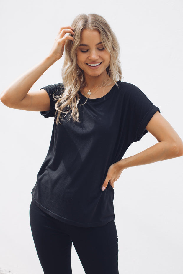 Hawkins Top - Black-Tops-One Love-ESTHER & CO.