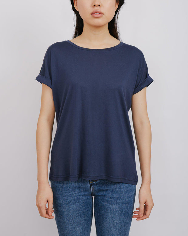 Hawkins Top - Navy-Tops-Womens Clothing-ESTHER & CO.