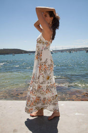Heidi Dress - White Print-Dresses-Womens Clothing-ESTHER & CO.