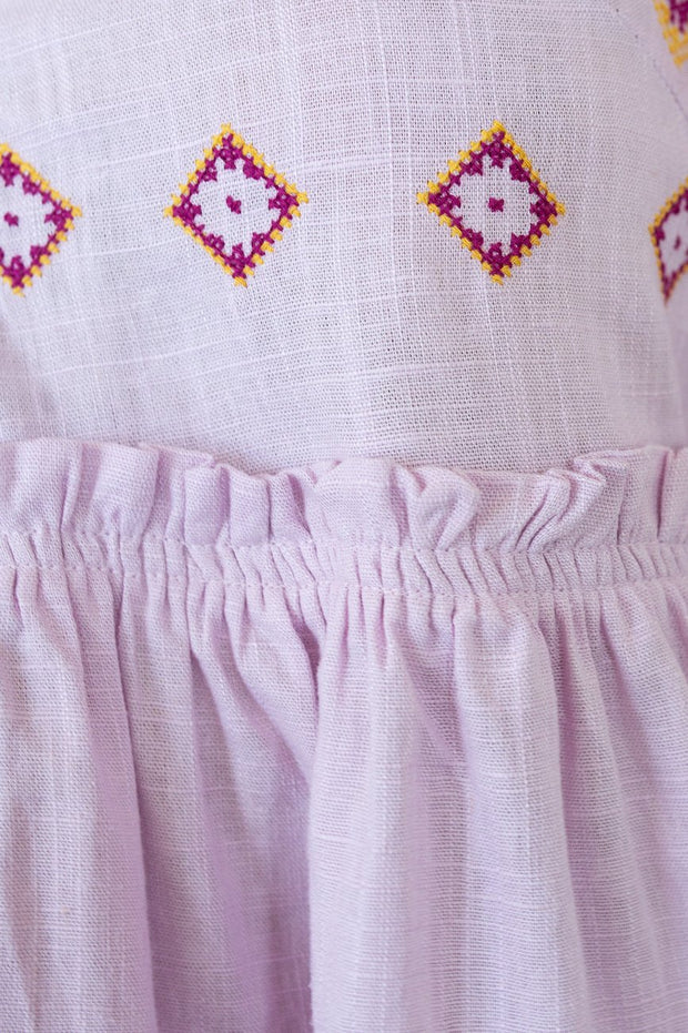 Heritage Top - Lilac-Tops-Womens Clothing-ESTHER & CO.