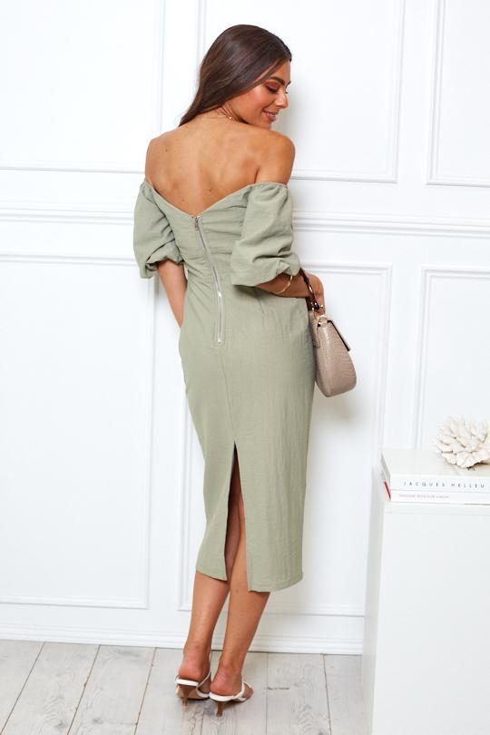 Hershey Dress - Khaki