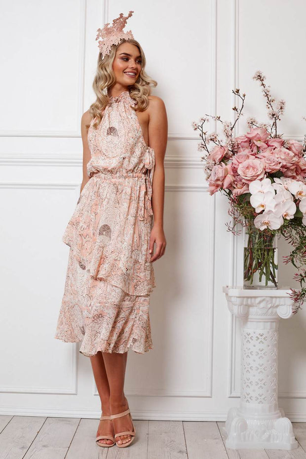 Hesta Dress - Pink Print-Dresses-Womens Clothing-ESTHER & CO.