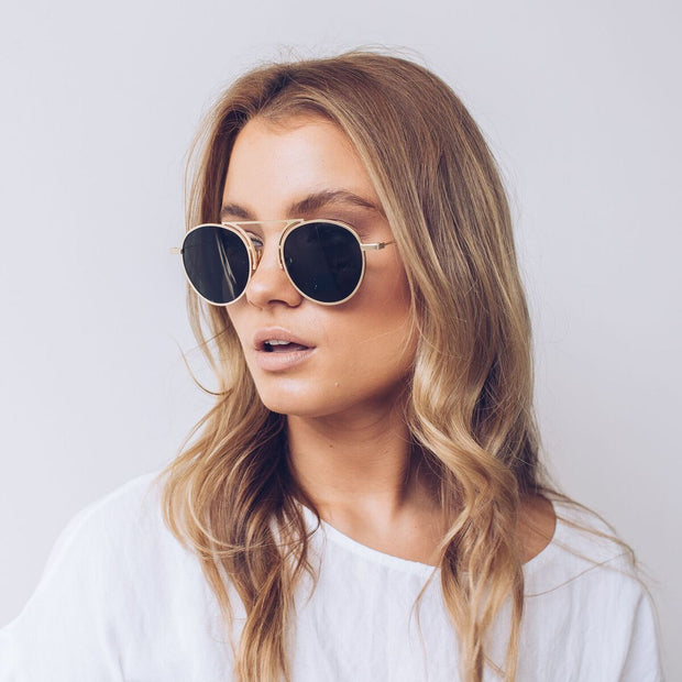 Marseille | Gold-Sunglasses-Womens Accessory-ESTHER & CO.