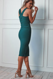 Homecoming Dress - Teal-Dresses-Womens Clothing-ESTHER & CO.