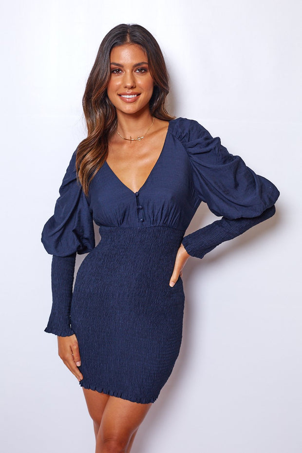 Honour Dress - Navy