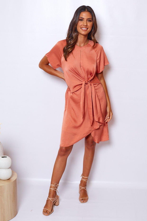 Horizon Dress - Rust-Dresses-Womens Clothing-ESTHER & CO.