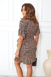 Host Dress - Leopard Print-Dresses-Womens Clothing-ESTHER & CO.