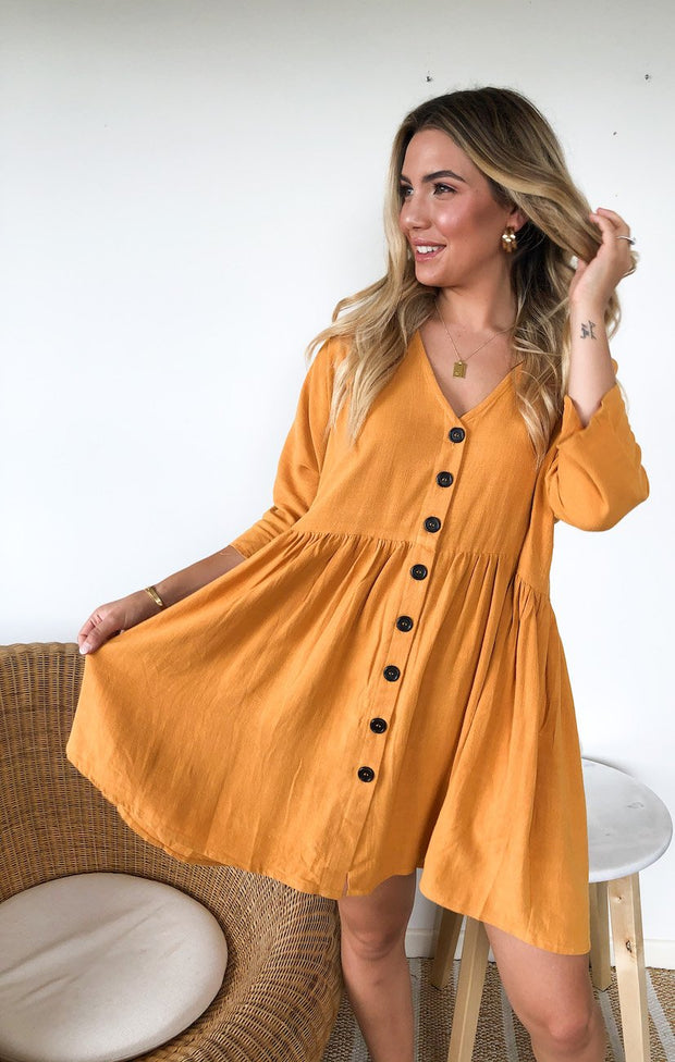 Huskisson Dress - Orange-Dresses-Womens Clothing-ESTHER & CO.