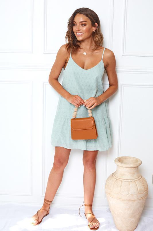 Isabella Dress - Sage-Dresses-Womens Clothing-ESTHER & CO.