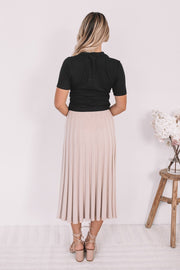 Jazlene Skirt - Nude-Skirts-Womens Clothing-ESTHER & CO.