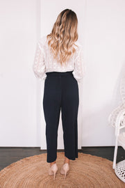 Jazlyn Pants - Navy-Pants-Womens Clothing-ESTHER & CO.
