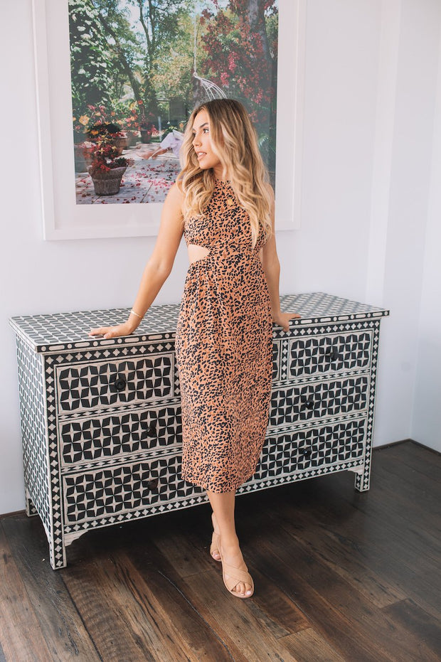 Jem Dress - Rust Print-Dresses-Womens Clothing-ESTHER & CO.