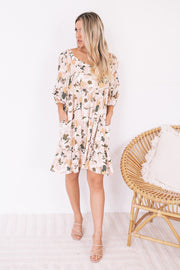 Jinia Dress - Blush Floral-Dresses-Womens Clothing-ESTHER & CO.