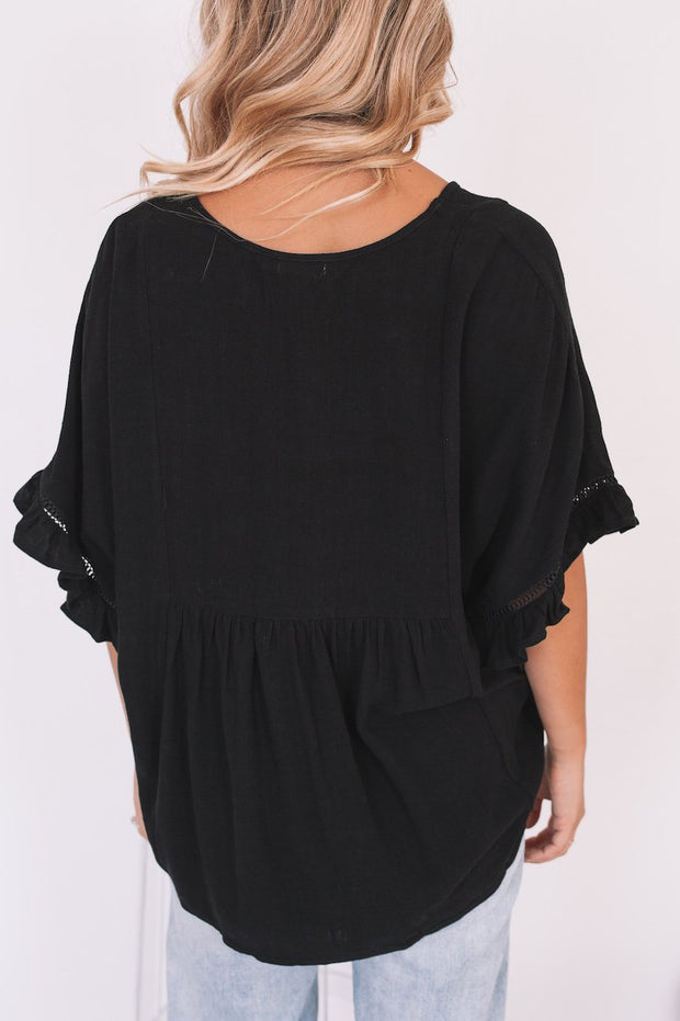 Jordin Black - Top-Tops-Womens Clothing-ESTHER & CO.