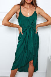 Juno Dress - Forest Green